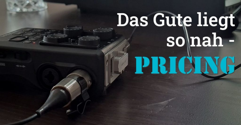 """Folge 109 des Podcasts """"Aus dem Maschinenraum für Marketing & Vertrieb"""": Das Gute liegt so nah - Pricing"""