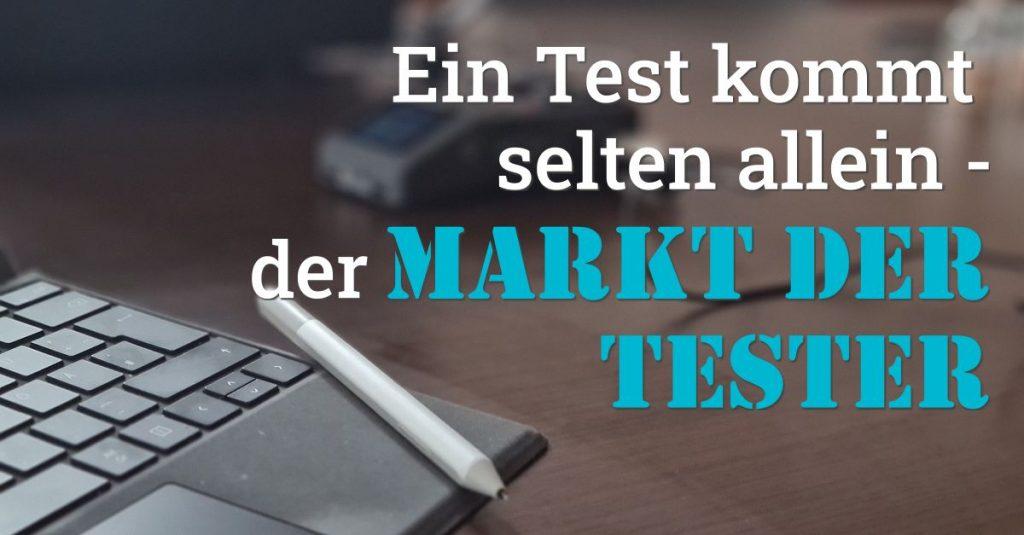 """Folge 112 des Podcast """"Aus dem Maschinenraum für Marketing & Vertrieb"""": Ein Test kommt selten allein - der Markt der Tester"""